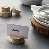 Crate & Barrel Stump Wood Place Card Holder