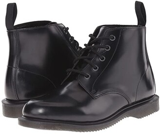 Dr. Martens Emmeline (Black Polished Smooth) Women's Lace-up Boots