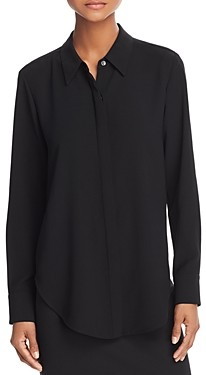 Theory Sunaya Silk-Stretch Shirt