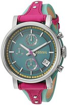 Fossil Women's ES4228 Original Boyfriend Sport Chronograph Two-Tone Leather Watch