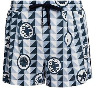 Dolce & Gabbana Geometric-Print Shorts