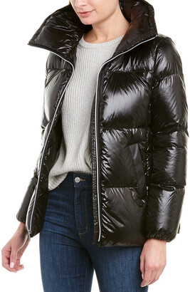 Cole Haan A-Line Quilted Coat