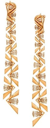 Etho Maria Pena 18K Rose Gold & Brown Diamond Linear Earrings