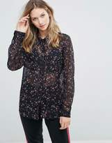Gestuz Stacie Sheer Floral Shirt
