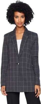 T Tahari Women's Paola Window Pane Plaid Suiting Jacket