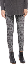 Motherhood No Belly Fleece Maternity Leggings- Fairisle