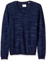 Billy Reid Men's Space Dyed Extrafine Merino Wool Pullover V-Neck Sweater
