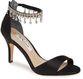 Nina Vera Embellished Ankle Strap Sandal