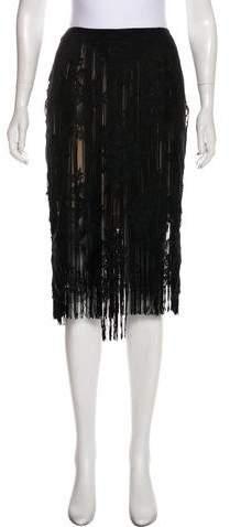 Stella McCartney Lace Fringe-Trimmed Skirt