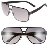 Gucci Men's 62Mm Aviator Sunglasses - Semi Matte Black
