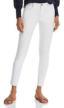 AG Jeans Ankle Legging Raw Hem Jeans in White - 100% Exclusive