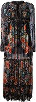 Roberto Cavalli Hippy long dress - women - Cotton/Silk - 38