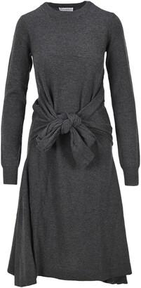 J.W.Anderson Tie Front Long Sleeve Knit Dress