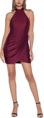 Blondie Nites Juniors' Mock Neck Dress