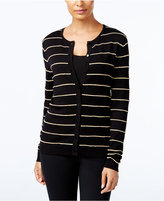 August Silk Striped Cardigan