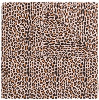 Blumarine Silk Leopard Print Scarf