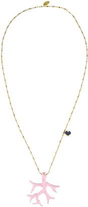 Katerina Psoma Coral Pendant Necklace