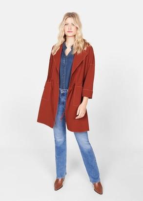 MANGO Unstructured belt coat