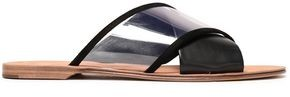 Diane von Furstenberg Suede-trimmed Leather And Pvc Slides