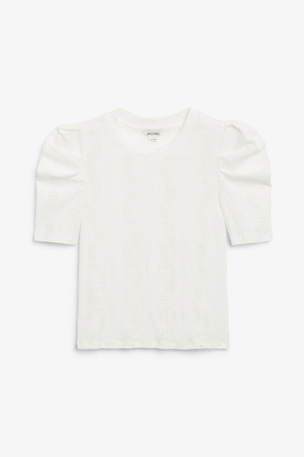 Thumbnail for your product : Monki Broderie anglaise top