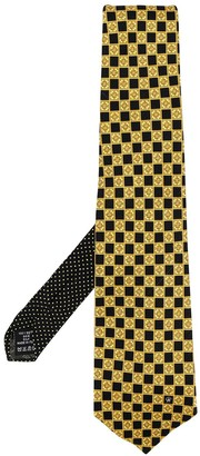 Versace Pre Owned Checked Tie