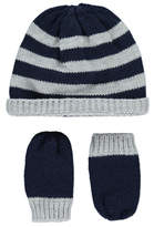 George Knitted Hat and Mitten Set