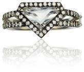 Covet Rose Cut Diamond Shield Ring