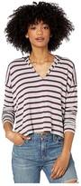 Beyond Yoga Good Times Cropped Hoodie (Americana Stripe Terry) Women's Clothing
