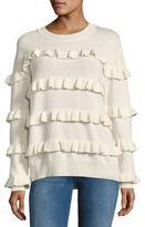 Of Two Minds Rib-Knit Ruffle Sweater