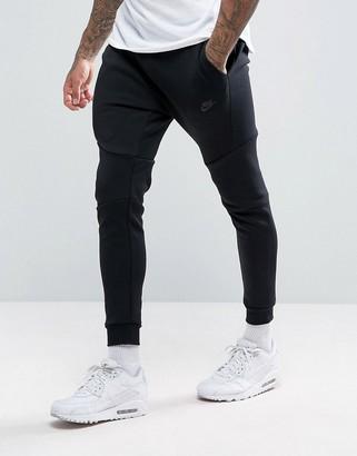 Nike tech fleece slim fit sweatpants in black 805162