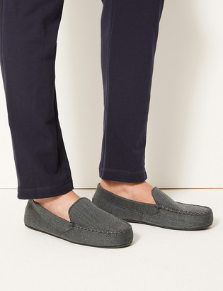 Marks and Spencer Slip-on Moccasin Slippers with Thermowarmth