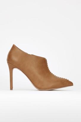 Wallis **Tan Heeled Shoe Boot