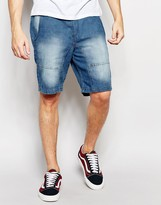 Brave Soul Jersey Denim Look Shorts