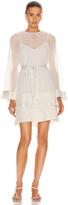 Zimmermann Tiered Flared Mini Dress in Pearl | FWRD