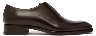 Christian Louboutin Corteo Leather Oxford Shoes - Mens - Dark Brown