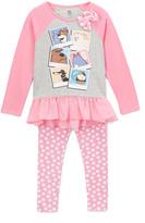 Children's Apparel Network Pink Photos Tee & Dot Pants - Toddler & Girls