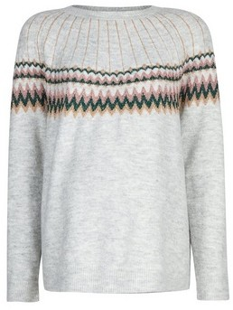 Dorothy Perkins Womens Dp Maternity Grey Fairisle Christmas Jumper, Grey