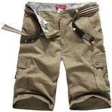 Canasour Men's Jogger Capri Cargo Shorts