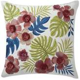 Williams-Sonoma Williams Sonoma Flora Fringe Embroidered Pillow, Ivory
