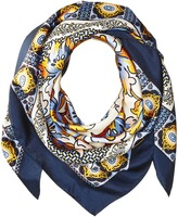 Tory Burch Tiger Lily Silk Square Scarf Scarves