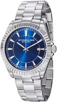 Stuhrling Original Men's 408G.33116 Aquadiver Regatta Marine Swiss Quartz Date Dial Stainless Steel Bracelet Watch