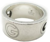 Gucci 925 Sterling Silver G Logo Ring Size 4.25