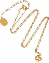 Alex Monroe 22-karat gold-plated snake necklace