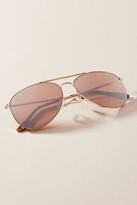 Anthropologie Violet Aviator Sunglasses By in Gold Size ALL