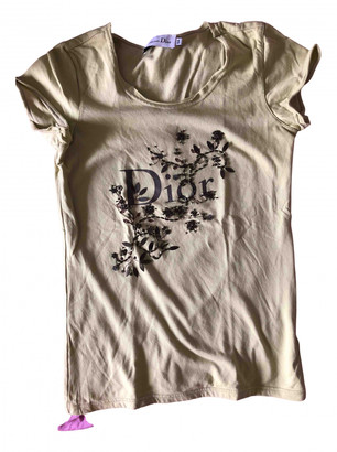Christian Dior Green Cotton Tops