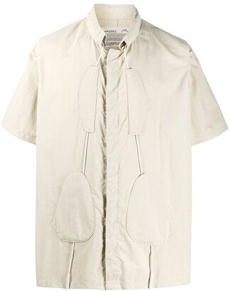 A-Cold-Wall* Drawstring Collar Short-Sleeved Shirt