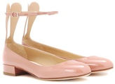Francesco Russo Patent leather ballerinas