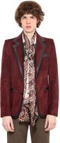 Roberto Cavalli Smooth Leather Trimmed Suede Jacket