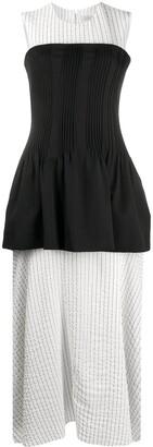 Nina Ricci Layered Striped-Panel Dress