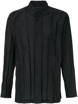 Issey Miyake crease effect shirt